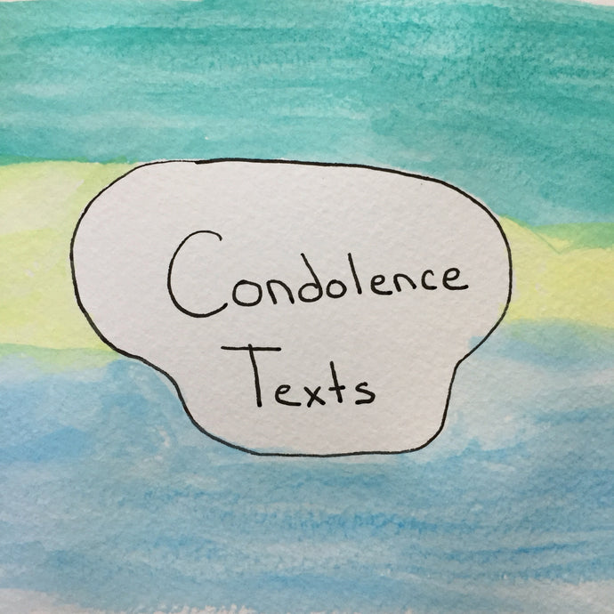 Anatomy of a Condolence Text