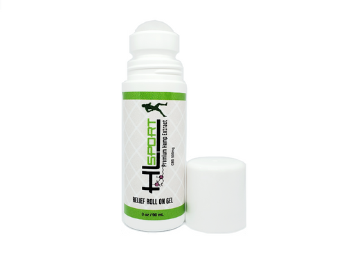 500mg CBD Relief Roll On Gel - Great for sports pain and injuries