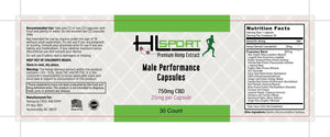 750mg CBD Male Performance Capsules