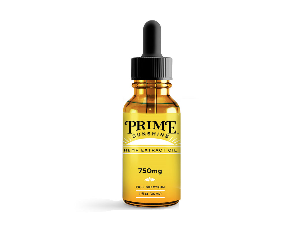 750MG CBD TINCTURE - PRIME SUNSHINE Natural Flavor - CBD Oil Source