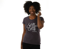 Hemp T-Shirt: Live LEAF Love - Women's - CBD Oil Source