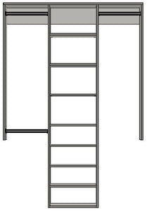 1.992 | 1250mm-2100mm Central tower 450w with 8 shelves