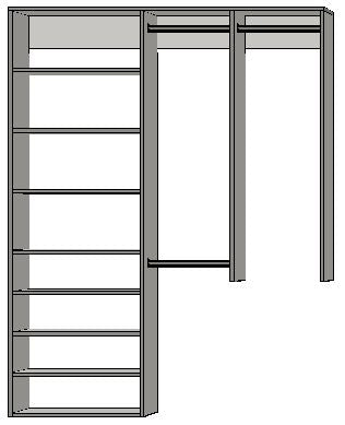 1.997 | 1250mm-2100mm Open Left Tower 450w with 8 shelves