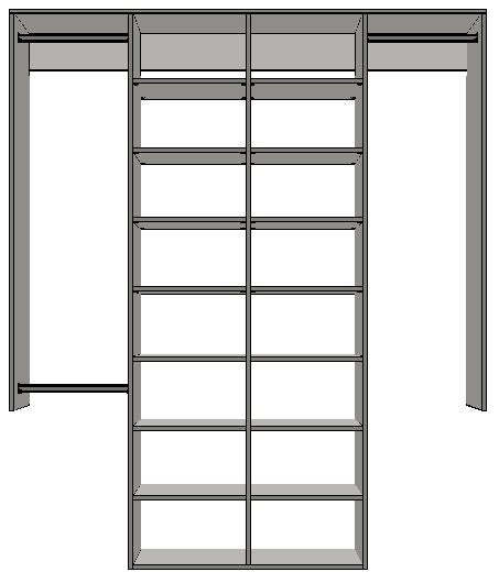 3.0 | 2100mm-2400mm Double central tower 600w with 16 shelves