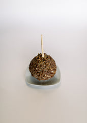 White Chocolate Dipped Caramel Apple {choose your toppings}