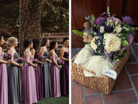 plum lilac navy blue wedding colors scheme theme