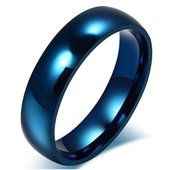 Blue Stainless Steel Band