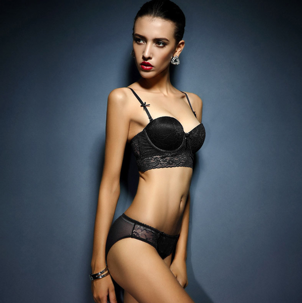 French Essence Half Cup Lace Bra and Panty Set