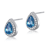 Drops of the Ocean Blue Studs