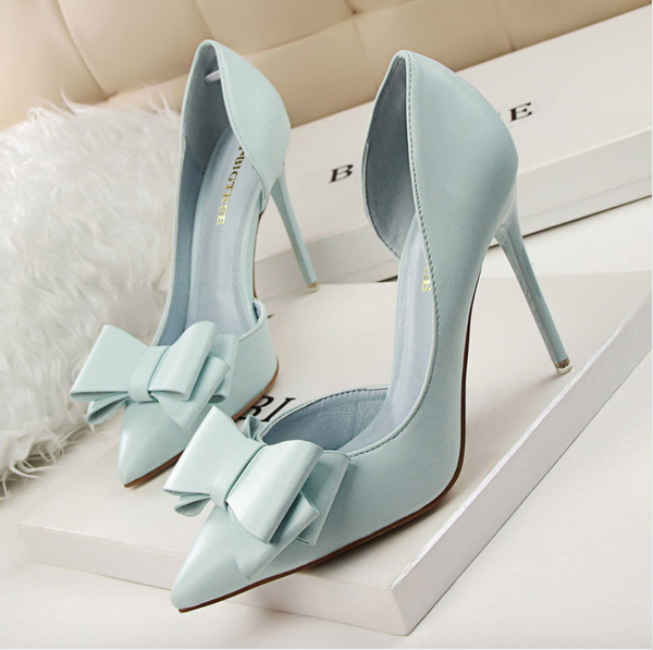 Lady Blues Patent Leather Heels