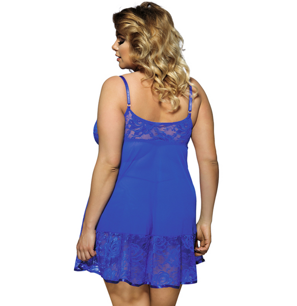 Plus Size Sweet Blue Baby Doll