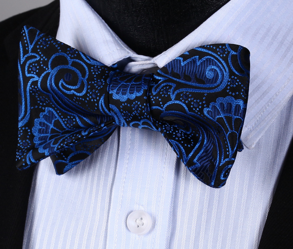 Royal and Chic Bowtie and Handkerchief Set