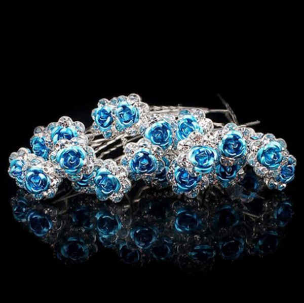 Ocean Rose Hair Pins