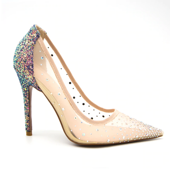 Party Mesh Princess Pumps