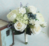 Blueberry Vintage Silk Bouquet