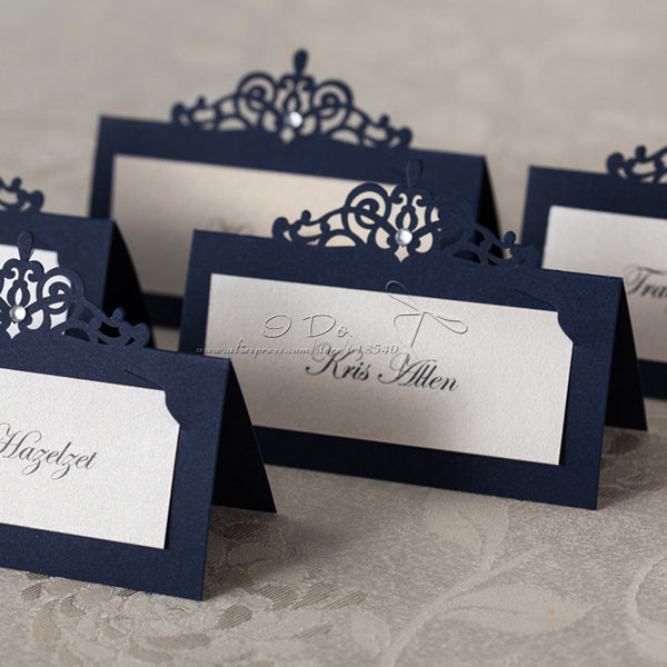 Blue Place Cards - 36-Piece Set