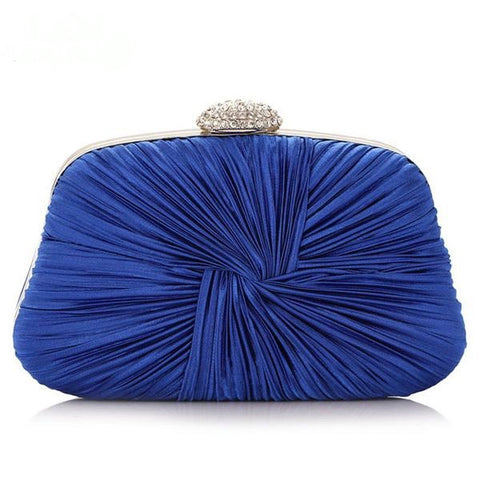 Ruched Satin Clutch Purse