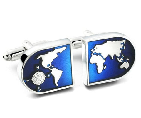 Blue World Novelty Cufflinks