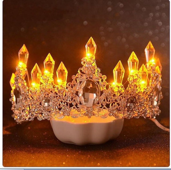 LED Crystal Tiara