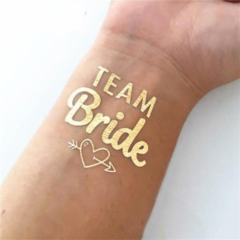 Team Bride Flash Tatts