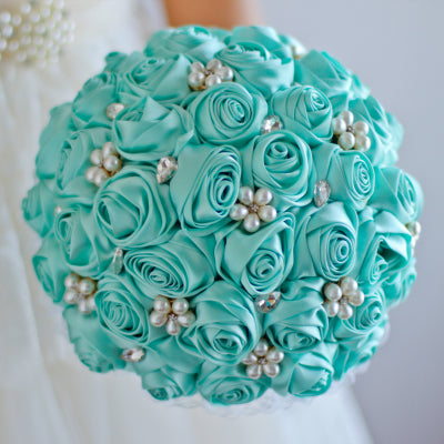 Silky Pearls Bridal Bouquet