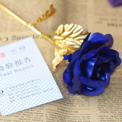 24K Gold Foil Plated Artificial Rose