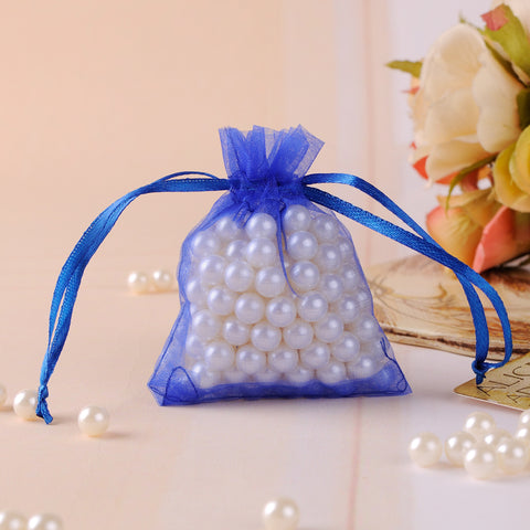 Royal Blue Drawstring Gift Bag - 100 pcs