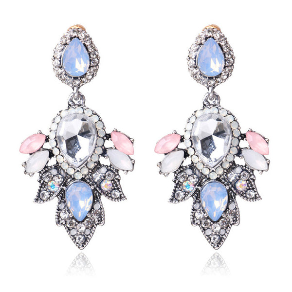 Spring Crystal Drop Earrings