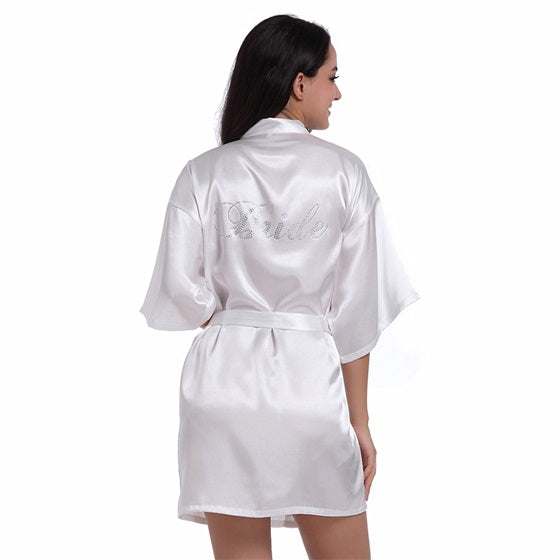 Satin Rhinestone Bridesmaid Robes