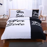 His and Her Side 3-piece Bedding Set