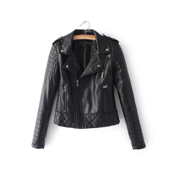 Leather Accent Jacket