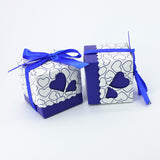 Blue Hearts Gift Boxes - 100 pieces