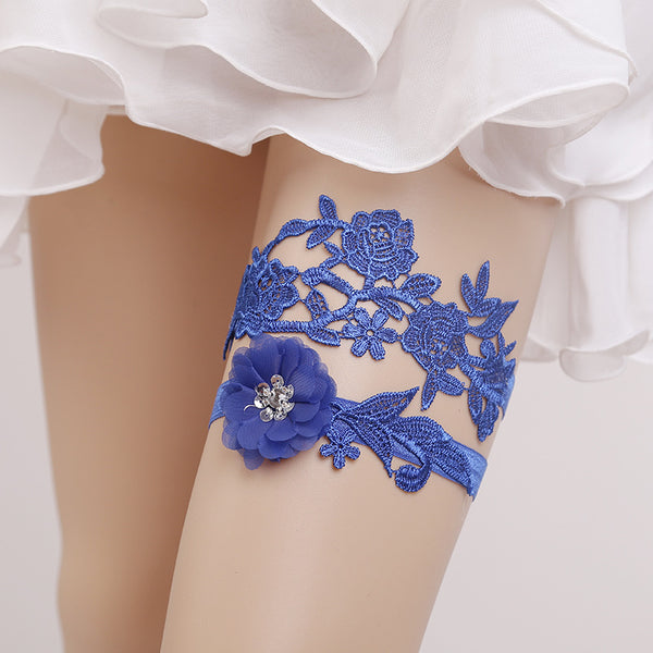 Floral Essence Bridal Garter Set