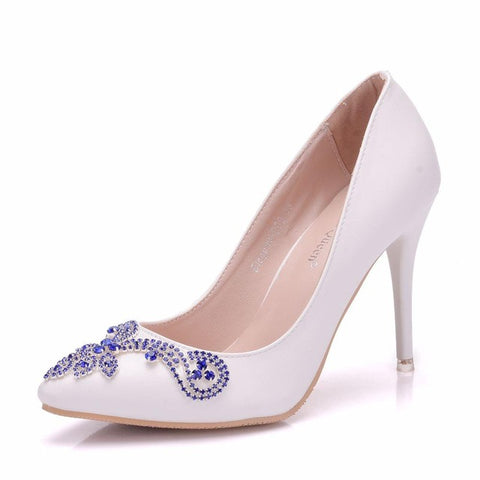 Blue Bridal Pumps and Heels