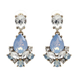Exquisite Crystal Drop Statement Earrings