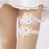 Embroidered Elegance Garter Set