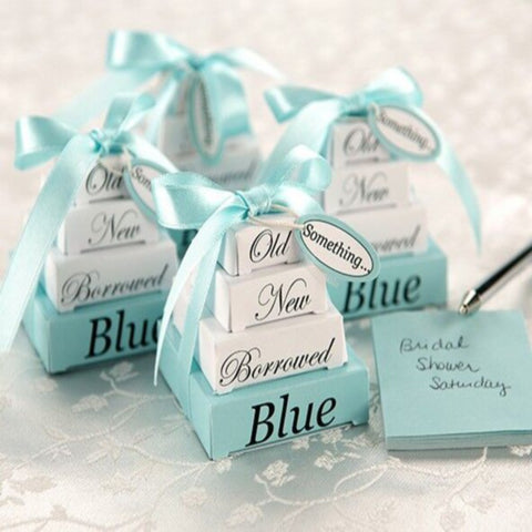 Tiffany Blue Wedding Tradition Boxes - 10 Pieces