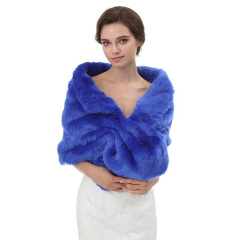 Royal Winter Fur Wedding Wrap