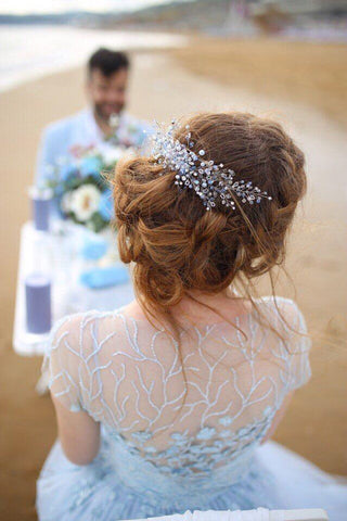 Crystal Burst Bridal Headpiece