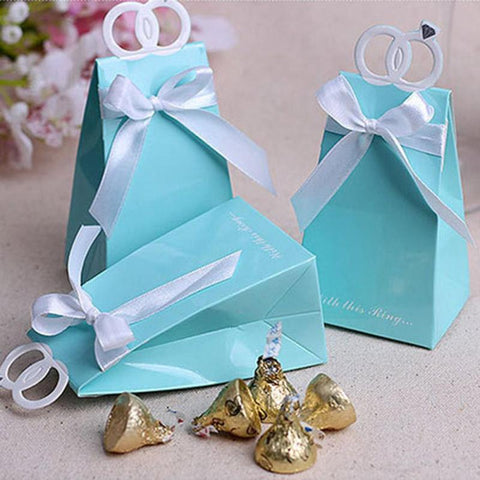 Tiffany Ring Wedding Favor Bags