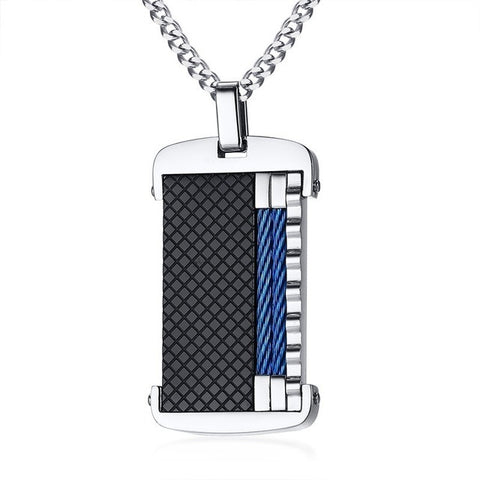 Modern Vantage Stainless Steel Dog Tag