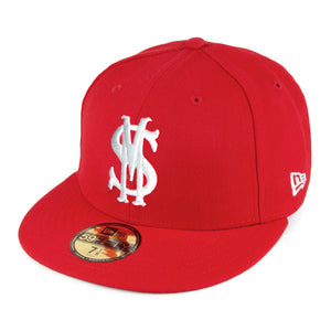 "Savemoney ""Royal Script"" Red New Era Fitted Cap"