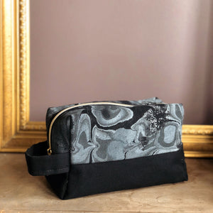 Marbled Dopp Bag - Black