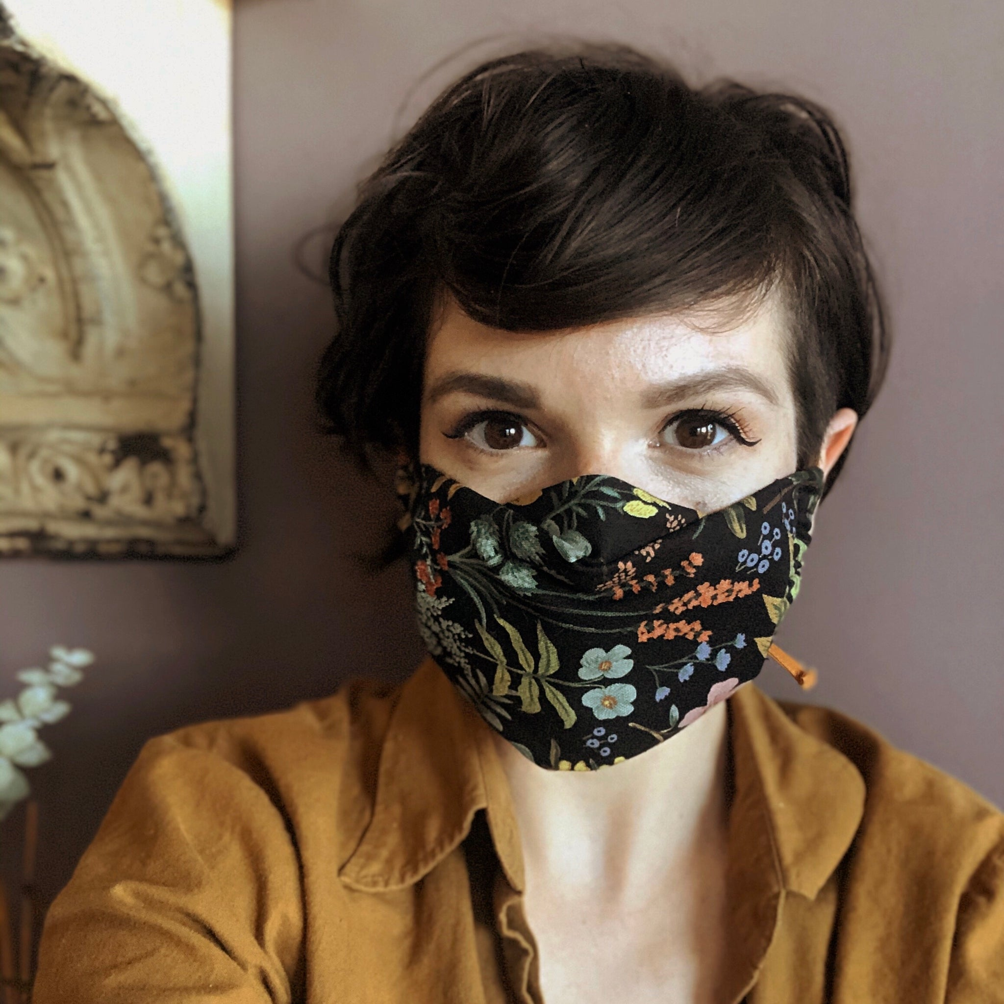 Cotton Face Mask - Liberty of London Floral Bold
