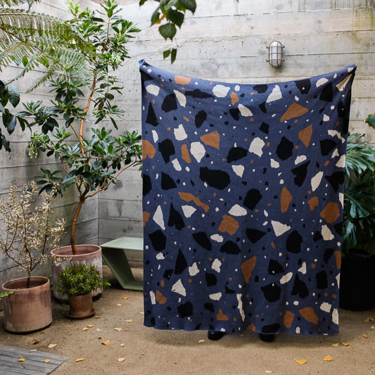 Terrazzo Throw in Denim