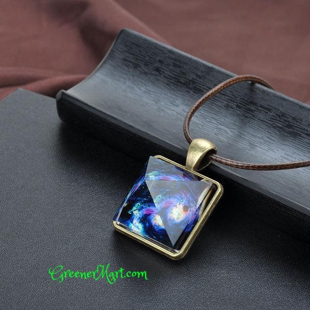 Glowing Crystal Pyramid Necklace - GreenerMart