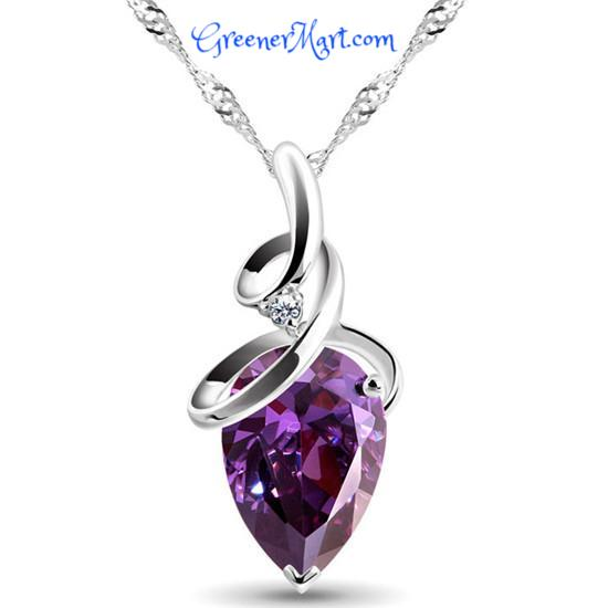 FREE Crystal Rhinestone Drop Necklace - GreenerMart