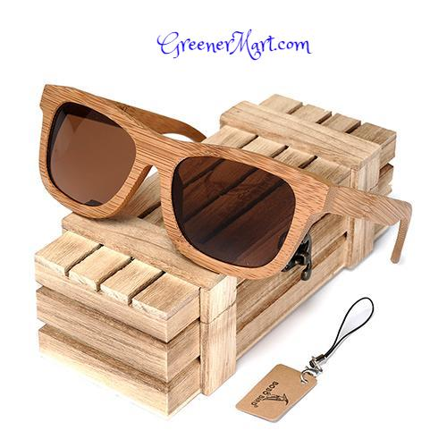 Vintage Bamboo Handmade Wooden Sunglasses - Polarized - GreenerMart