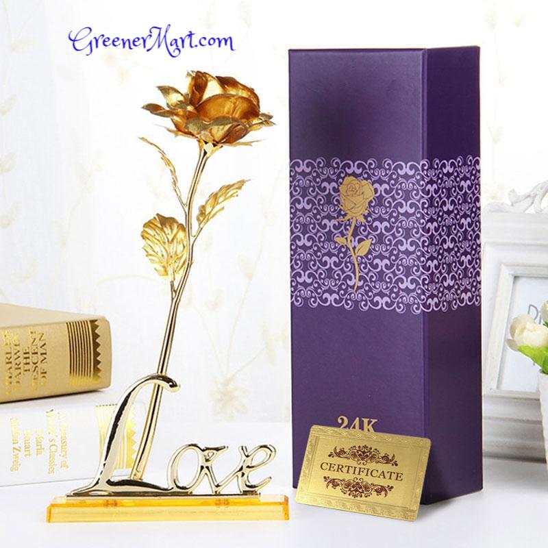 24K Gold Foil Rose - GreenerMart