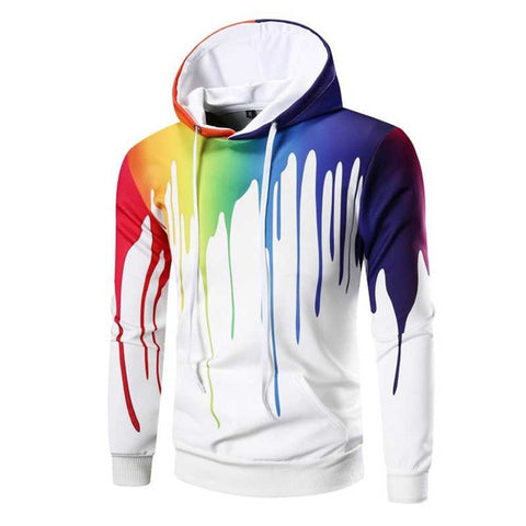 Abstract Paint Hoodie - GreenerMart